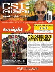 T.O. DRIES OUT AFTER STORM - tonight Newspaper