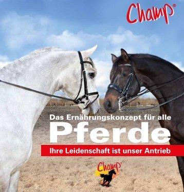 Champ Katalog - Champ Pferdefutter
