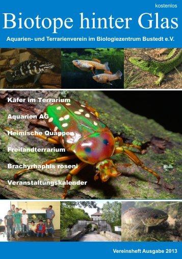 Biotope hinter Glas - Aquarien- und Terrarienverein im ...
