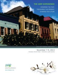 2013 Forensic Conference Brochure - IARP