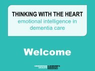 Thinking with the heart: Emotional intelligence in dementia care