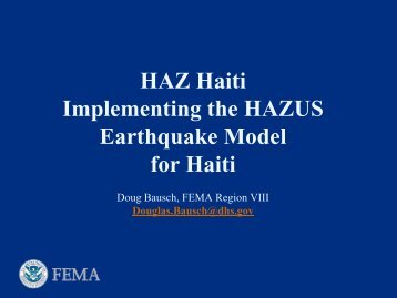 International Uses of HAZUS - Chapter / Section Number: 2F