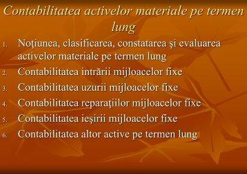 Contabilitatea activelor materiale pe termen lung