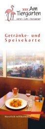 Getränke- und Speisekarte - Am Tiergarten Hotel & Cafe-Restaurant