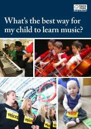 What's the best way for my child to learn music?We at Youth Music ...