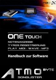 Handbuch zur Software - ATMObyte Songlister