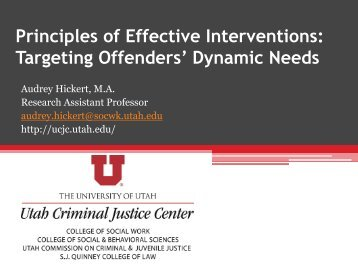 Principles of Effective Interventions - Utah Fall Conference