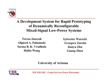 A Development System for Rapid Prototyping of Dynamically ...