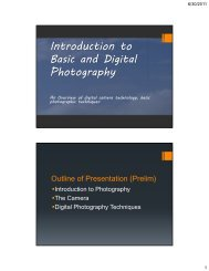 Introduction to Photography Lecture 1 - WordPress – www ...