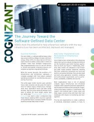 The Journey Toward the Software-Defined Data Center - Cognizant