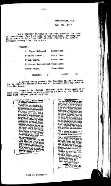 1947 July - September - Town of Cheektowaga