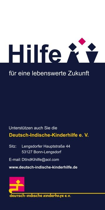 Flyer Bonn - Deutsch-Indische Kinderhilfe
