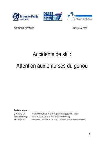 Accidents de ski : attention aux entorses du genou - Inpes