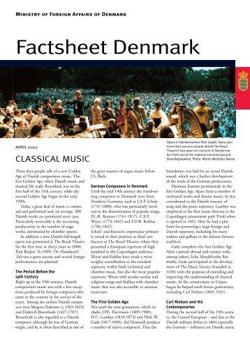 Factsheet Denmark Classical Music