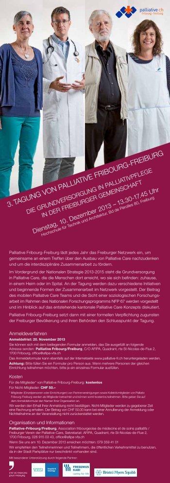 3. TAgUNg VON PAllIATIVE FRIBOURg-FREIBURg - Palliative vs