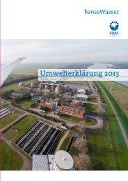 Umwelterklärung 2013 - hanseWasser Bremen GmbH