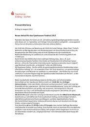 Pressemitteilung - und Stadtsparkasse Erding - Dorfen