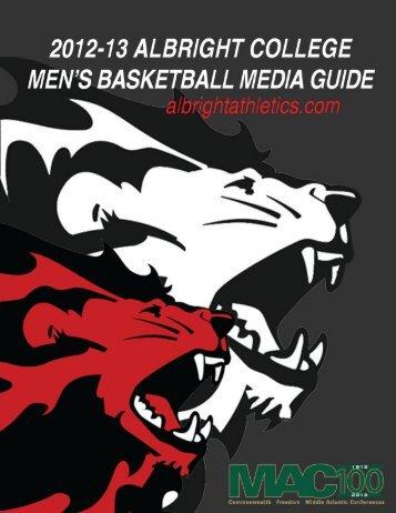 2012-13 Media Guide - Albright College Athletics