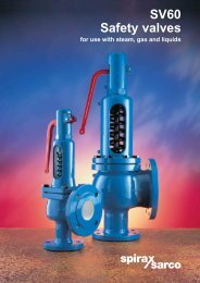 SV60 Safety Valves For Use With Steam, Gas and ... - Spirax Sarco