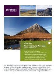 Schottland West Highland Way pur