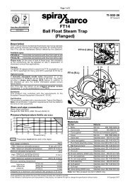 FT14 Ball Float Steam Trap (Flanged) - Spirax Sarco