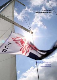 Leitfaden Jollenausbildung - Yachtclub Phoenixsee eV