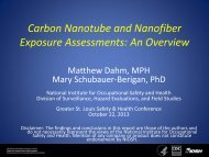 Carbon Nanotube and Nanofiber Exposure Assessments: An ...
