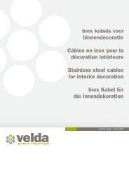 Inox kabels voor binnendecoratie Câbles en inox pour la décoration ...