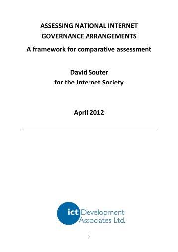 assessment of national Internet governance arrangements