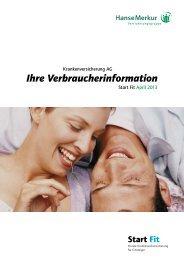 Verbraucherinformation Tarif Start Fit (Stand: 04.2013) - PKV-Wiki