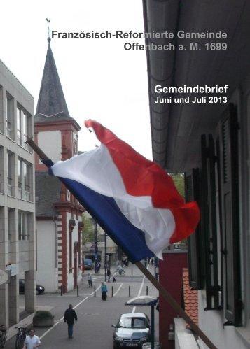 Gemeindebrief Juni/Juli 2013 - Franzoesisch-Reformierte Gemeinde ...