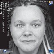 Entwicklung des Antidiskriminierungsrechts in Europa - European ...