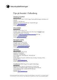 Tips på boende i Falkenberg - Naturskyddsföreningen
