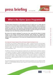 press briefing_What is the ASP.indd - Alpine Space Programme