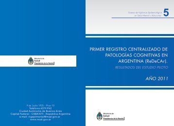 PRIMER REGISTRO CENTRALIZADO DE PATOLOGÍAS ...