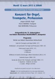 Konzert für Orgel, Trompete, Perkussion - orgue-dudelange.net