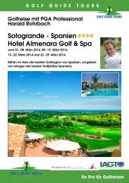 Costa del Sol mit Harald Rohrbach - Birs Golf AG