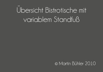 Übersicht Bistrotische mit variablem Standfuß - Lenzenberg