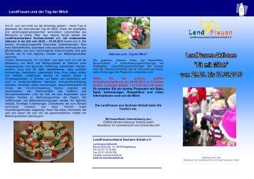 Veranstaltungen Fit mit Milch 2013.pdf - LandFrauenverband ...