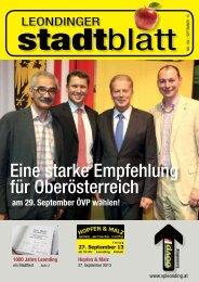 Eine starke Empfehlung für Oberösterreich - ÖVP Leonding