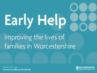 Early Help - Worcestershire County Council