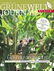 Grüne Welt Journal vom 12. November 2013 - Kurieranzeigen