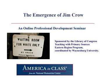 pros and cons jim crow laws