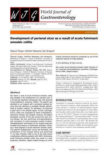 PDF (0K) - World Journal of Gastroenterology