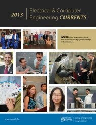 Electrical & Computer Engineering Currents 2013 - Department of ...