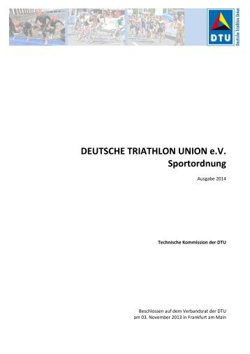 Sportordnung 2014.pdf - Deutsche Triathlon Union