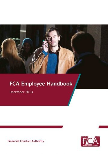 FCA Employee Handbook - Financial Conduct Authority