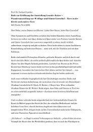 Prof. Dr. Gerhard Larcher Rede zur Eröffnung der ... - Leander Kaiser