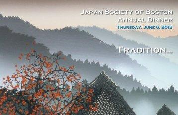 Tradition... - The Japan Society of Boston