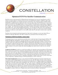 TCP/IP - Constellation Networks Corporation